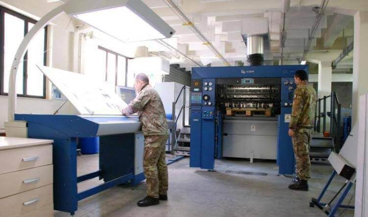 Il Centro stampa del 28° reggimento Comunicazioni Operative Pavia